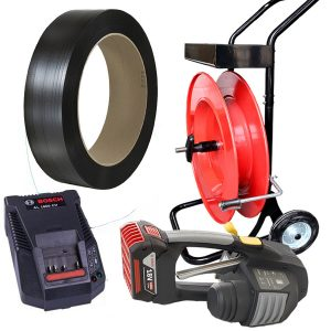 Battery strapping tool MB620 set PP strap + dispenser + battery + charger