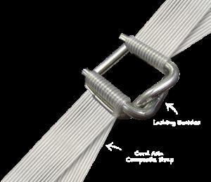 Zložený obalový materiál 16mm, 19mm alebo 25mm lacné svorky