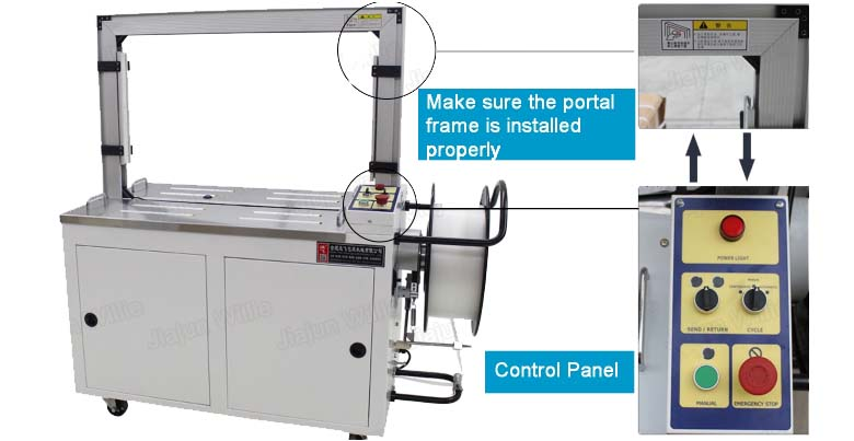 AUTOMA automatic strapping machine control panel