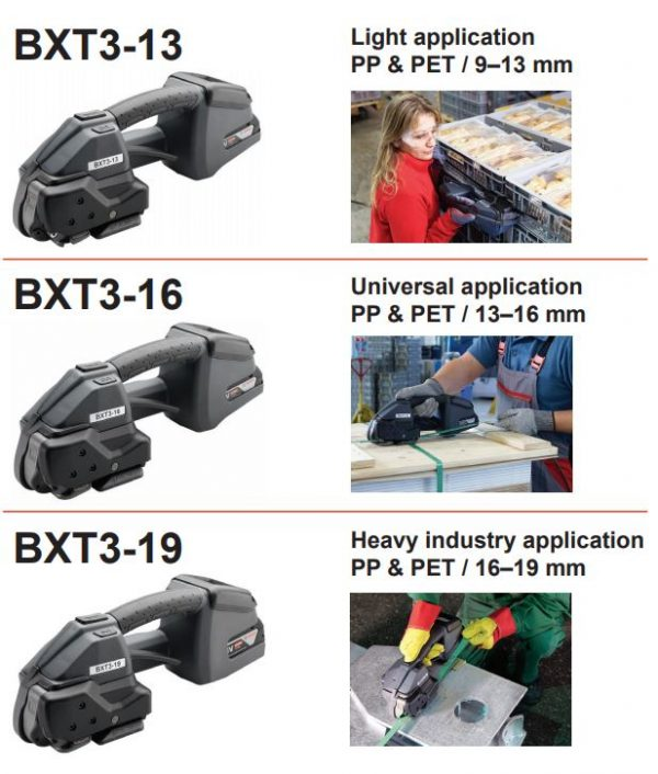 Signode-BXT3-battery-powered-strapping-tool-range