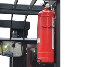 Electric Forklift fire extinguisher bracket