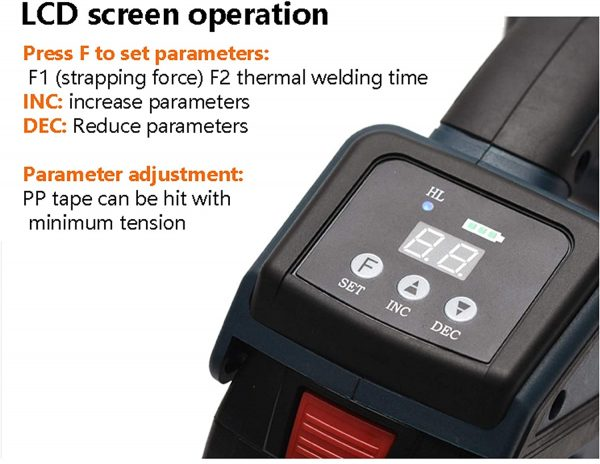 Battery-strapping-tool-TES-Pro-digital-display