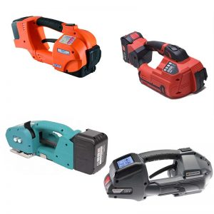 Battery strapping tools