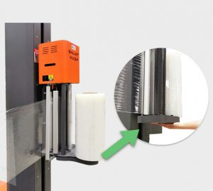 Intelligent Pallet Wrapper SMARTWRAP-X PRE-STRETCH film carriage